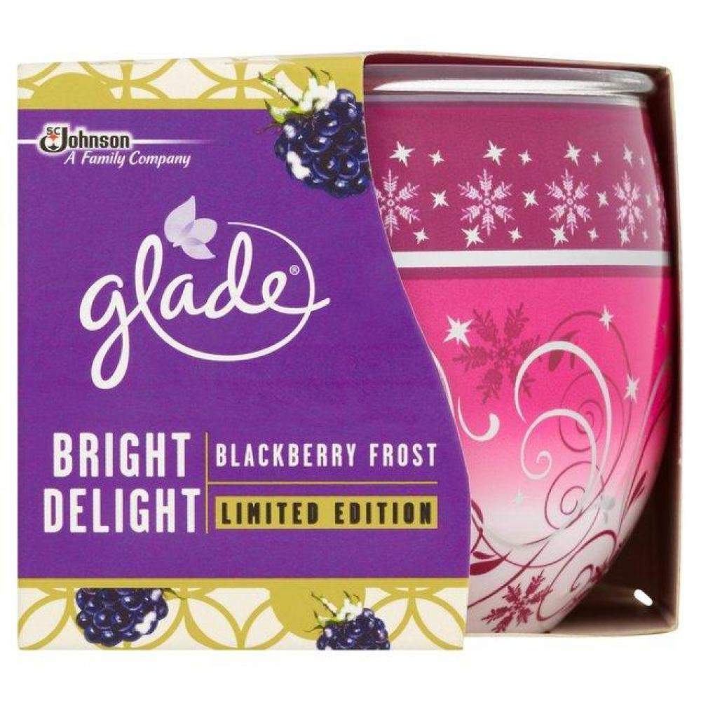 Glade Bright Delight Blackberry Frost Candle 120g
