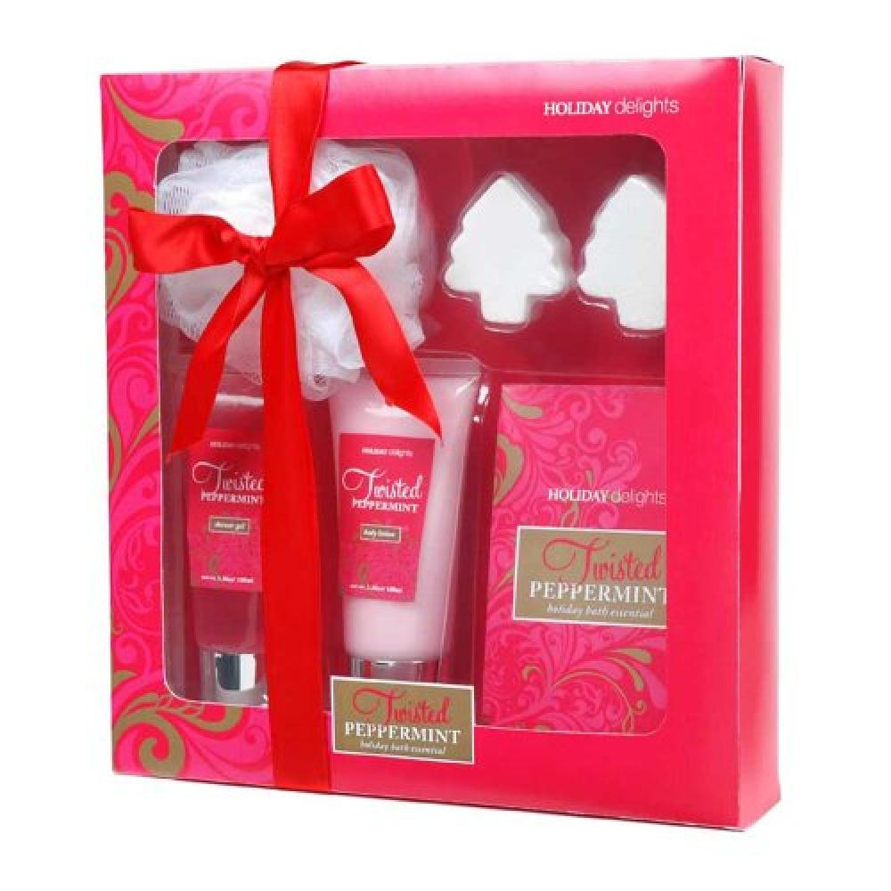 Gloss Holiday Delights Bath Gift Set Twisted Peppermint - 6-Piece