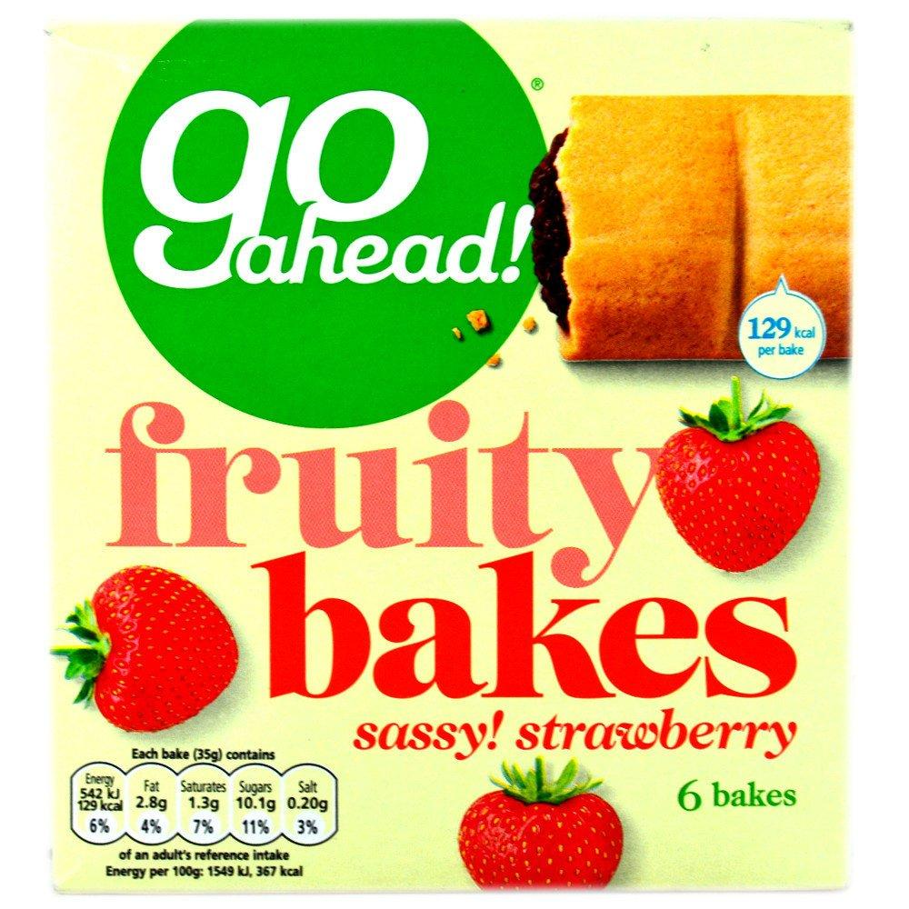 Go Ahead Go Ahead Go Ahead Go Ahead Fruity Bakes Sassy Strawberry 35g x 6 35g x 6 35g x 6 35g x 6