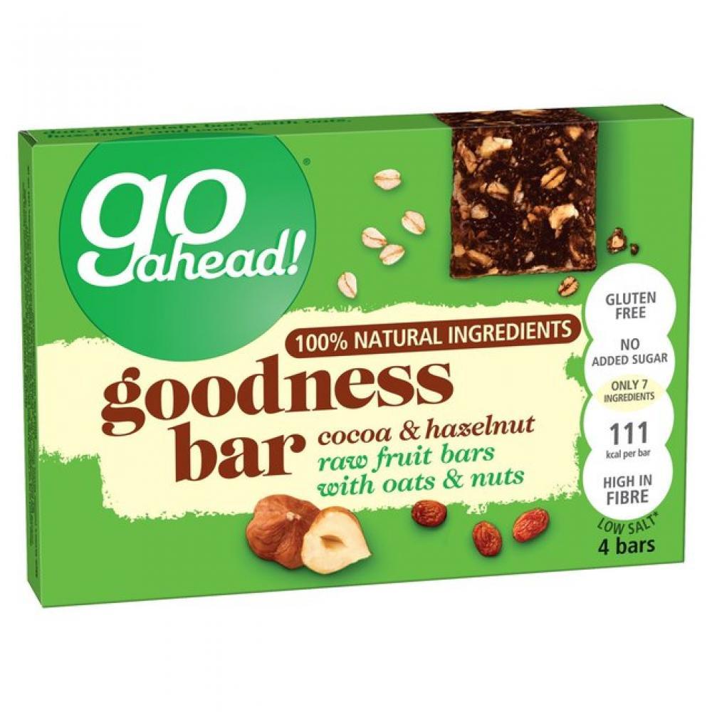 Go Ahead Goodness Bar Cocoa and Hazelnut 30g x 4