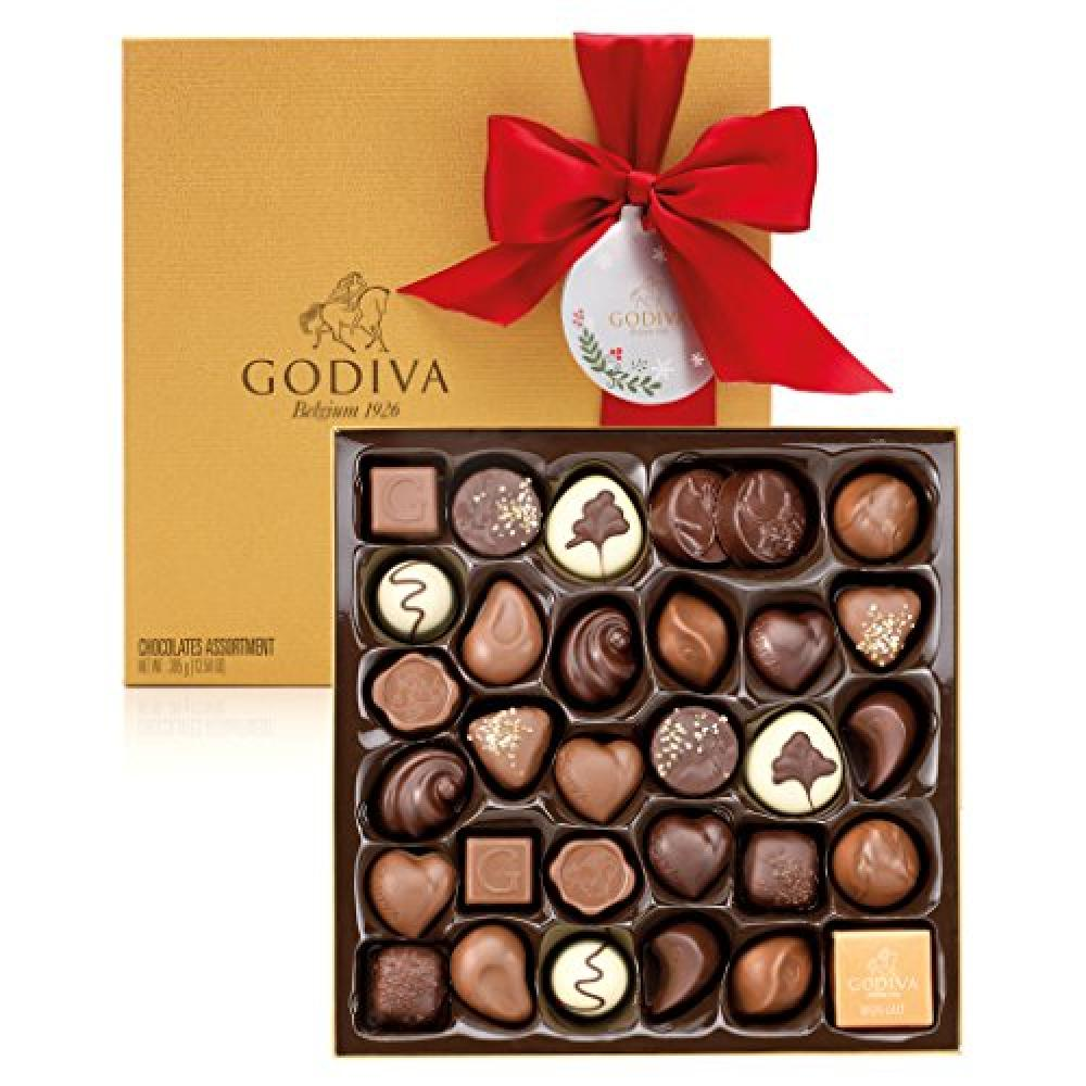 FURTHER REDUCTION  Godiva  Gold Rigid Chocolate Box 34 Pieces