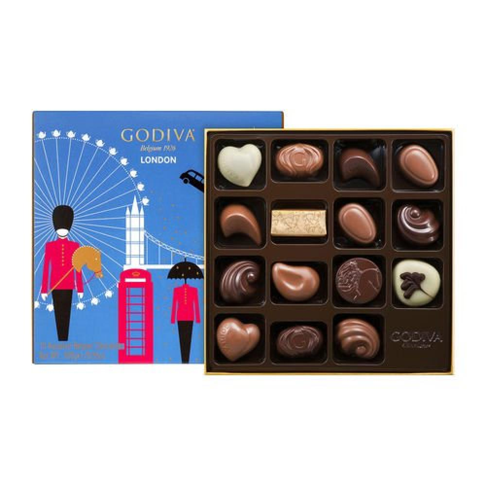 Godiva London Assortment of 15 Chocolates 180g