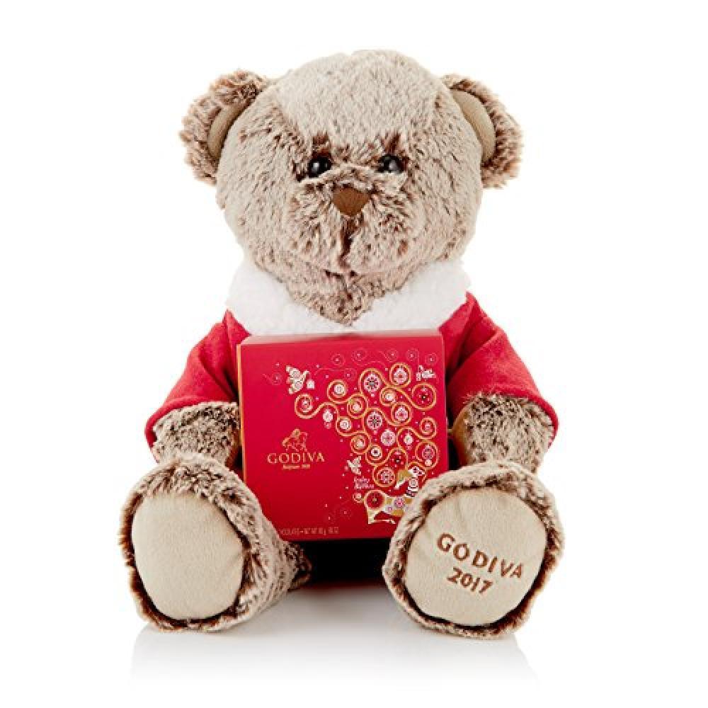 Godiva Plush Bear with 4 Pieces Chocolate 45g