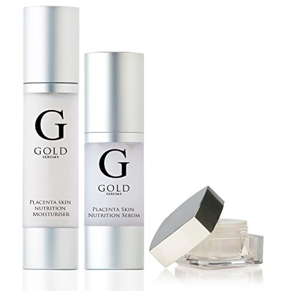 Gold Serums Placenta Serum Placenta Eye Gel and Placenta Moisturiser 30ml10ml50ml