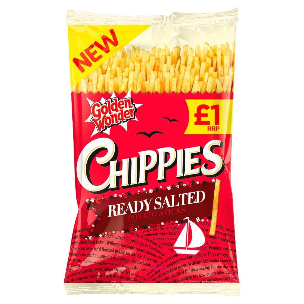 Golden Wonder Chippies Ready Salted 100g