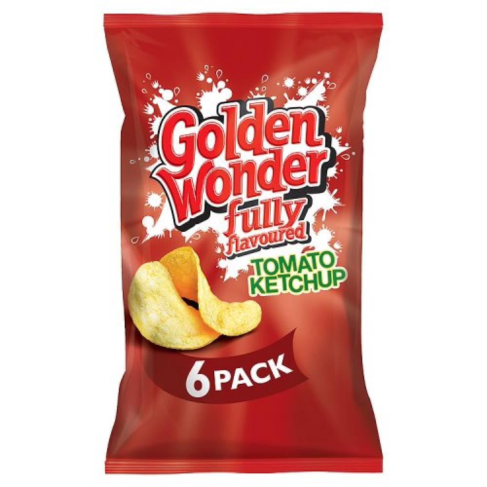 Golden Wonder Tomato Ketchup Crisps 25g x 6