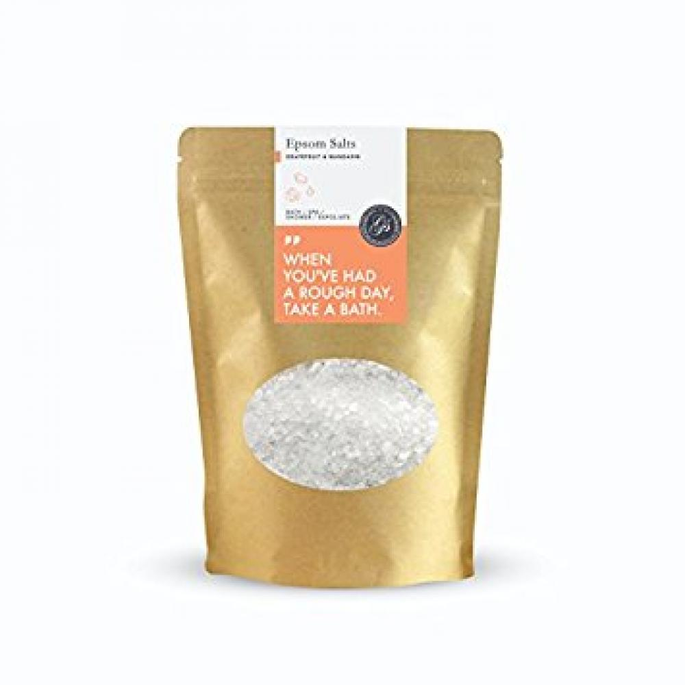 Grace and Stella Co Epsom Salts (Magnesium Sulphate) Soak for Achy Muscle Relief Detoxing and Relaxation - 500 g Grapefruit and Mandarin