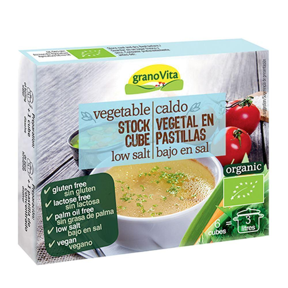 Grano Vita Vegetable Stock Cubes Low Salt 66g