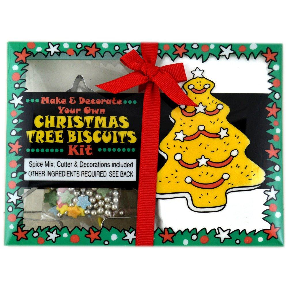 Green Cuisine Make and Decorate Your Own Christmas Tree Biscuits Kit