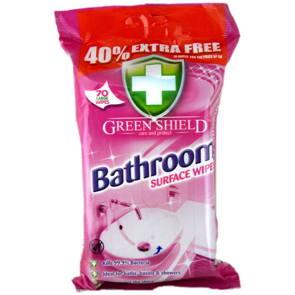 Green Shield Bathroom Surface Wipes pack of 70