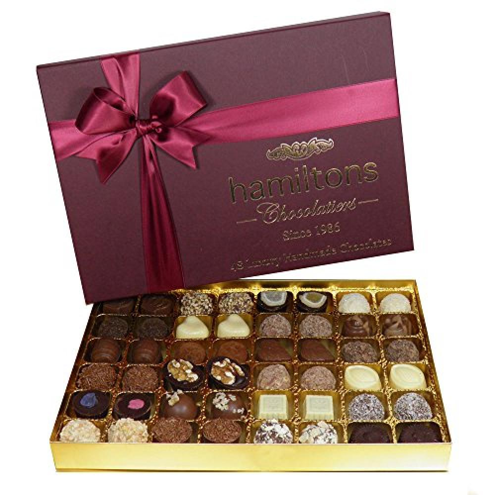 Hamiltons 48 Luxury Handmade Chocolates 580g