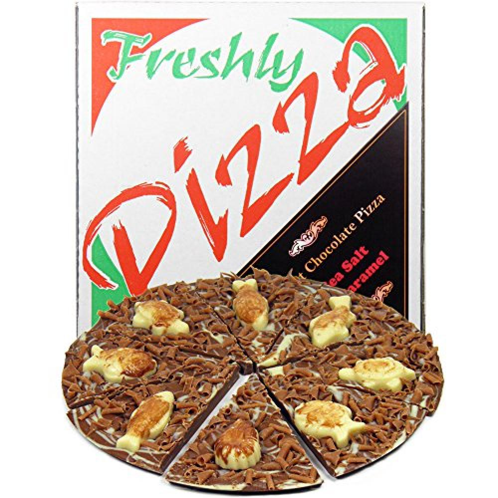 Hamiltons Milk Chocolate Sea Salt and Caramel Gourmet Chocolate Pizza 240 g 7-inch