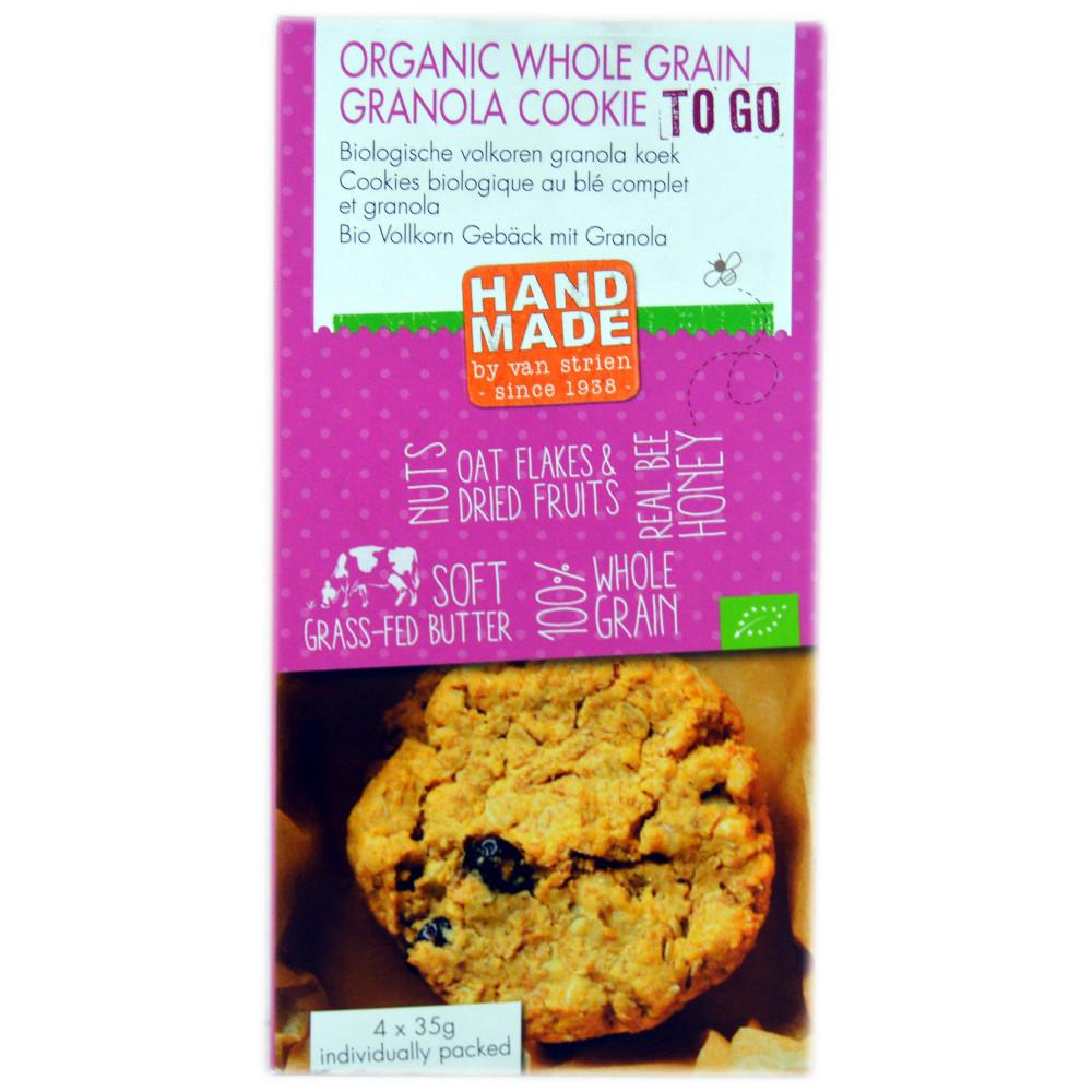 Handmade by Van Strien Organic Whole Grain Granola Cookie To Go 35g x 4