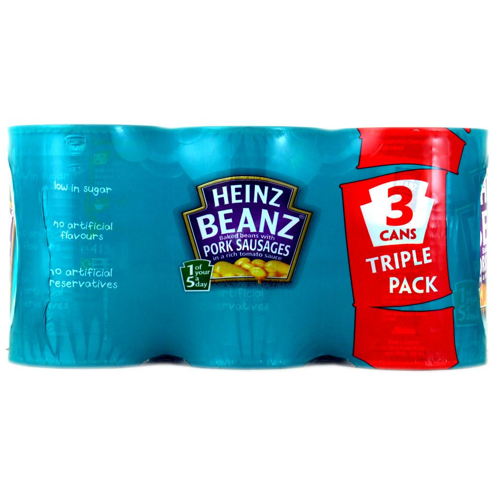 Heinz Beanz With Pork Sausages 415g x 3 415g x 3