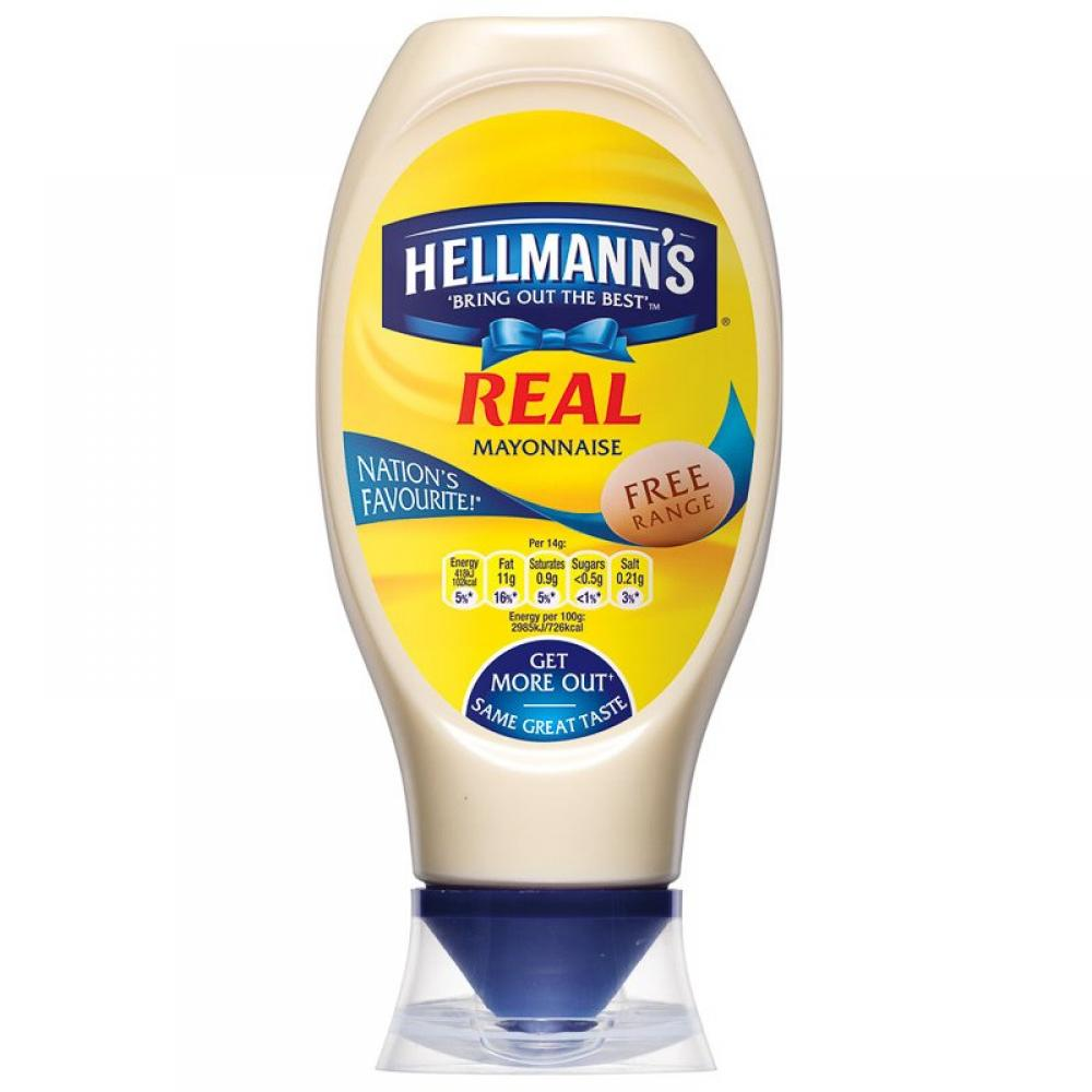 Hellmanns Real Mayonnaise Squeezy 750ml