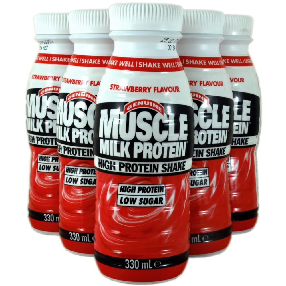 Genuine Muscle Milk Protein High Protein Shake Strawberry Flavour 6 x 330ml