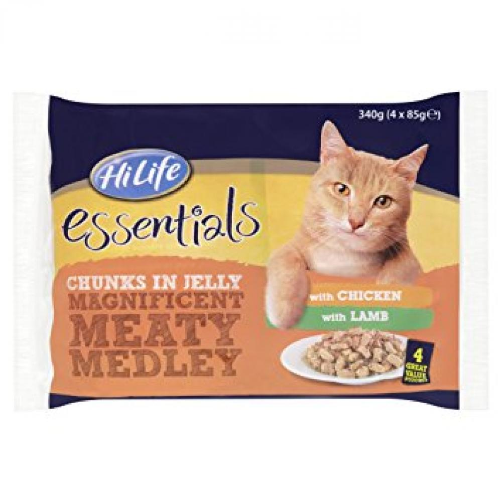 HiLife Essentials Cat Food Meaty Medley Selection in Jelly 4x85g
