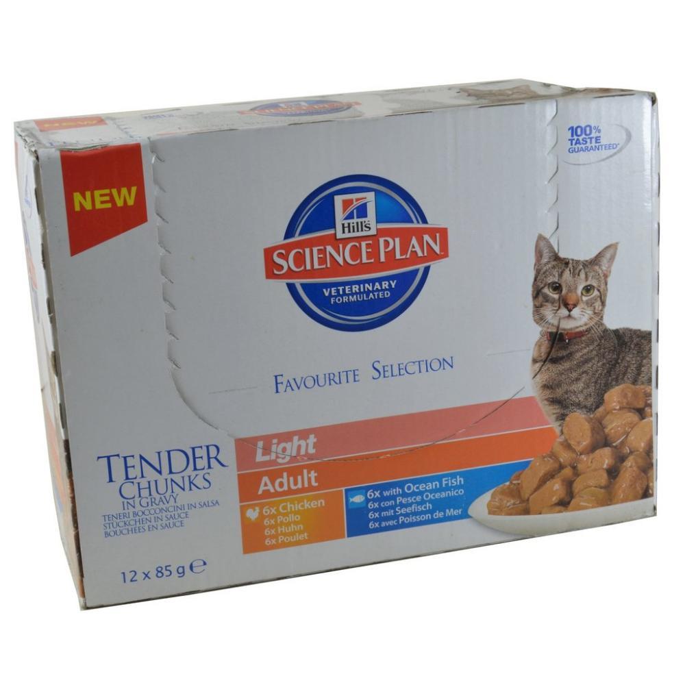 Hills Science Plan Cat Tender Chunks In Gravy Light Adult 12 x 85g
