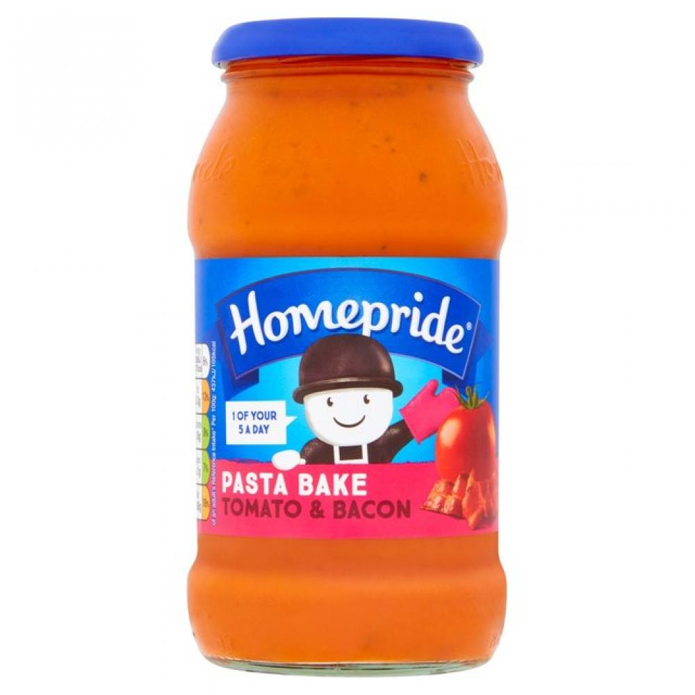 Homepride Pasta Bake Creamy Tomato and Bacon 485g