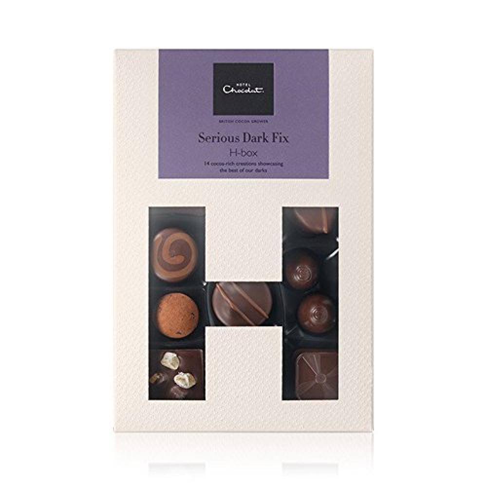 Hotel Chocolat Serious Dark Fix H-Box 155 g