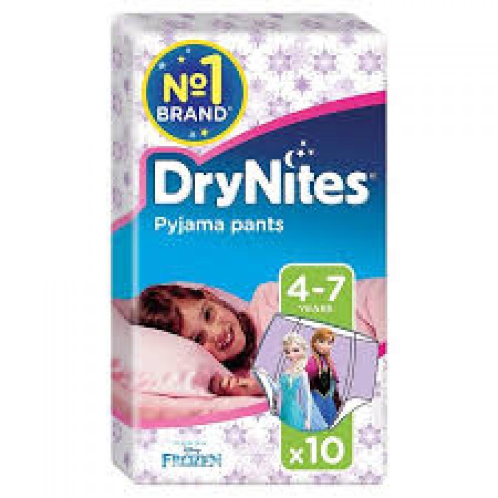 Huggies DryNites Girls Pants 4-7 Years Designs May Vary 10 Pack