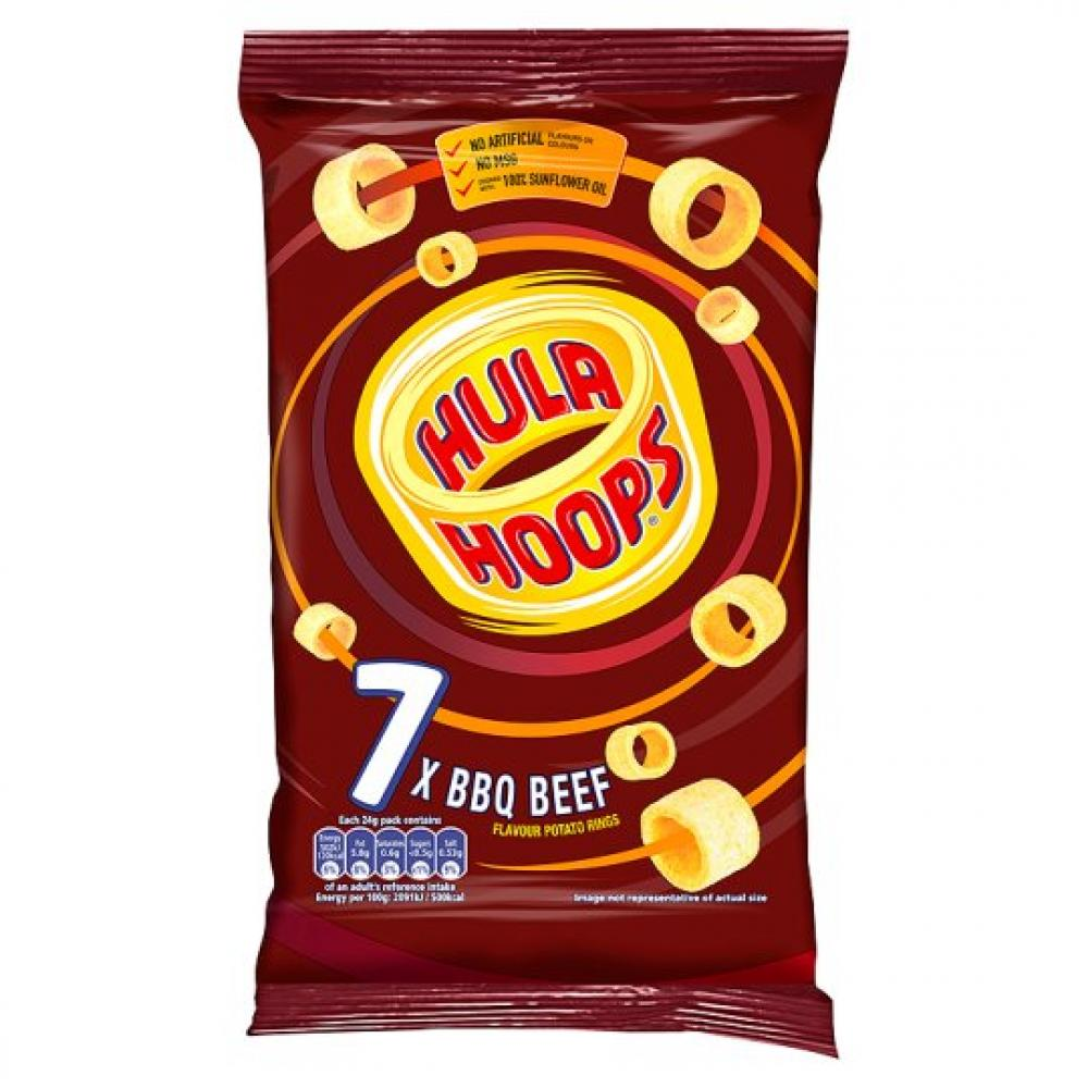 Hula Hoops BBQ Beef 24g x 7