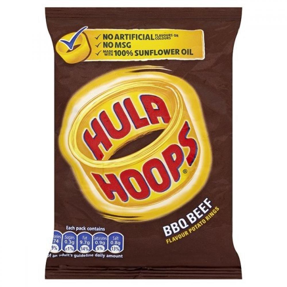 Hula Hoops BBQ Beef 34g