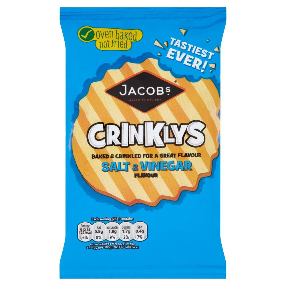 Jacobs Crinklys Salt and Vinegar Flavour 50g