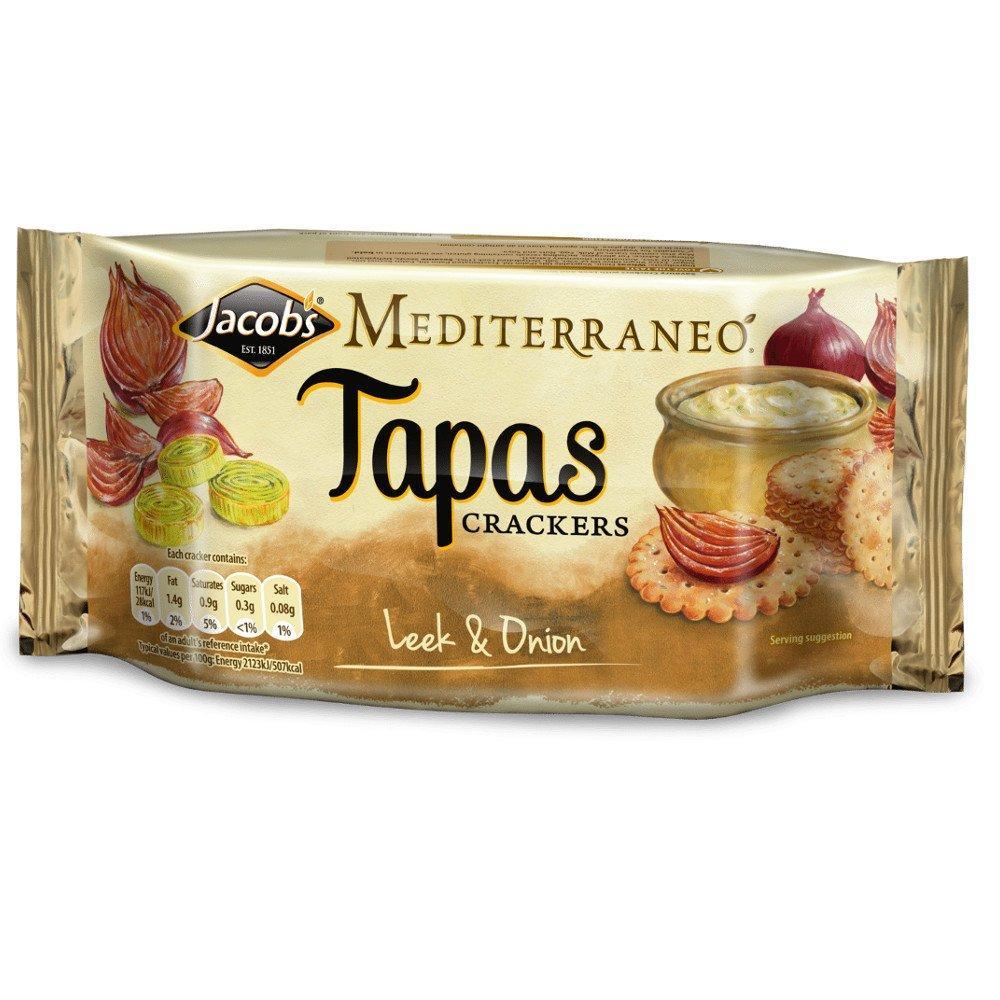 Jacobs Medium Tapas Crackers Onion And Leek 105g