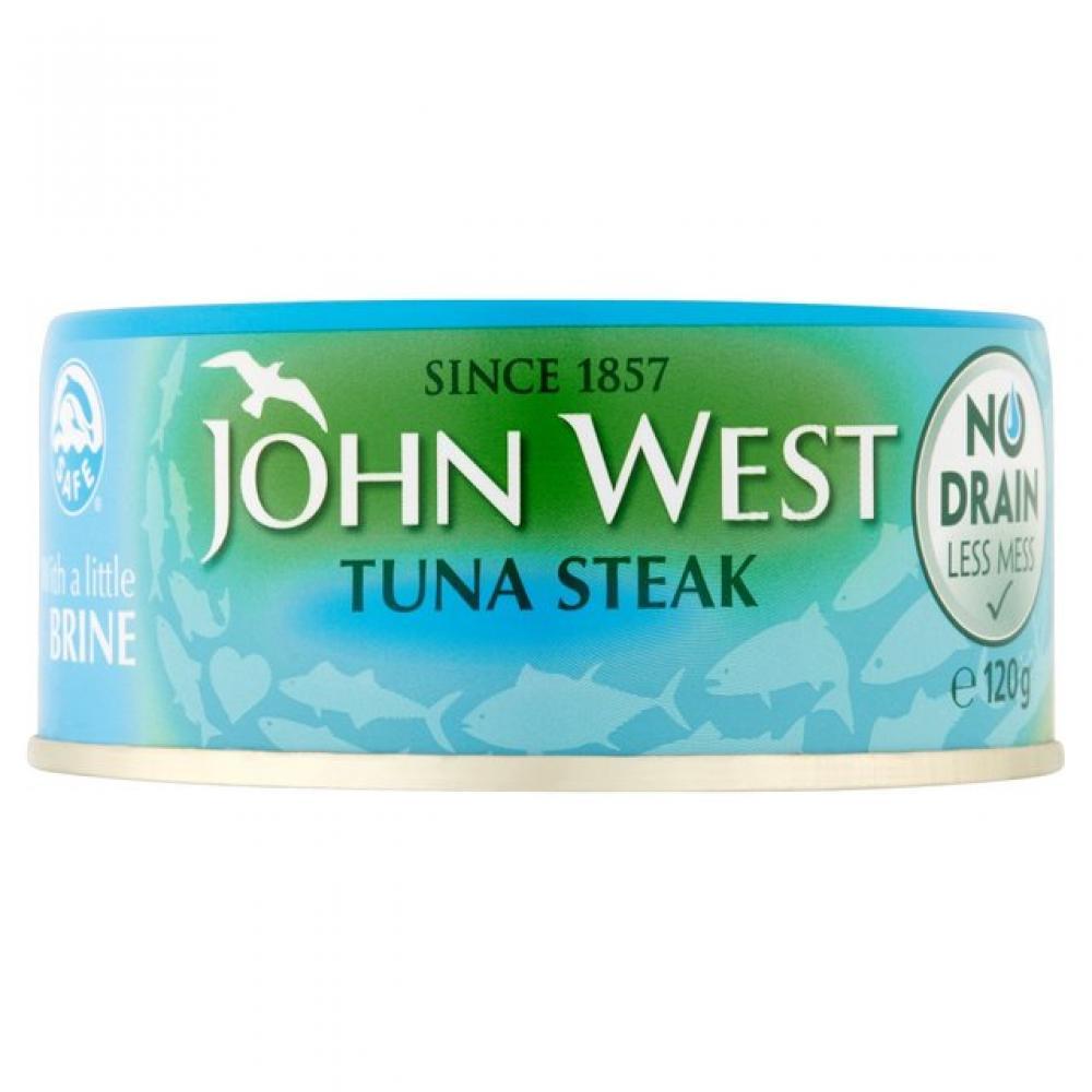 John West Tuna Steak in Brine No Drain 120g