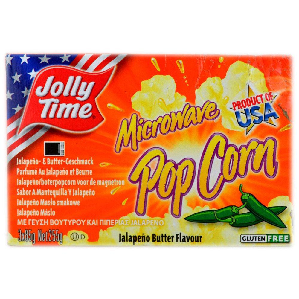 Jolly Time Microwave Popcorn Jalapeno Butter Flavour 255g