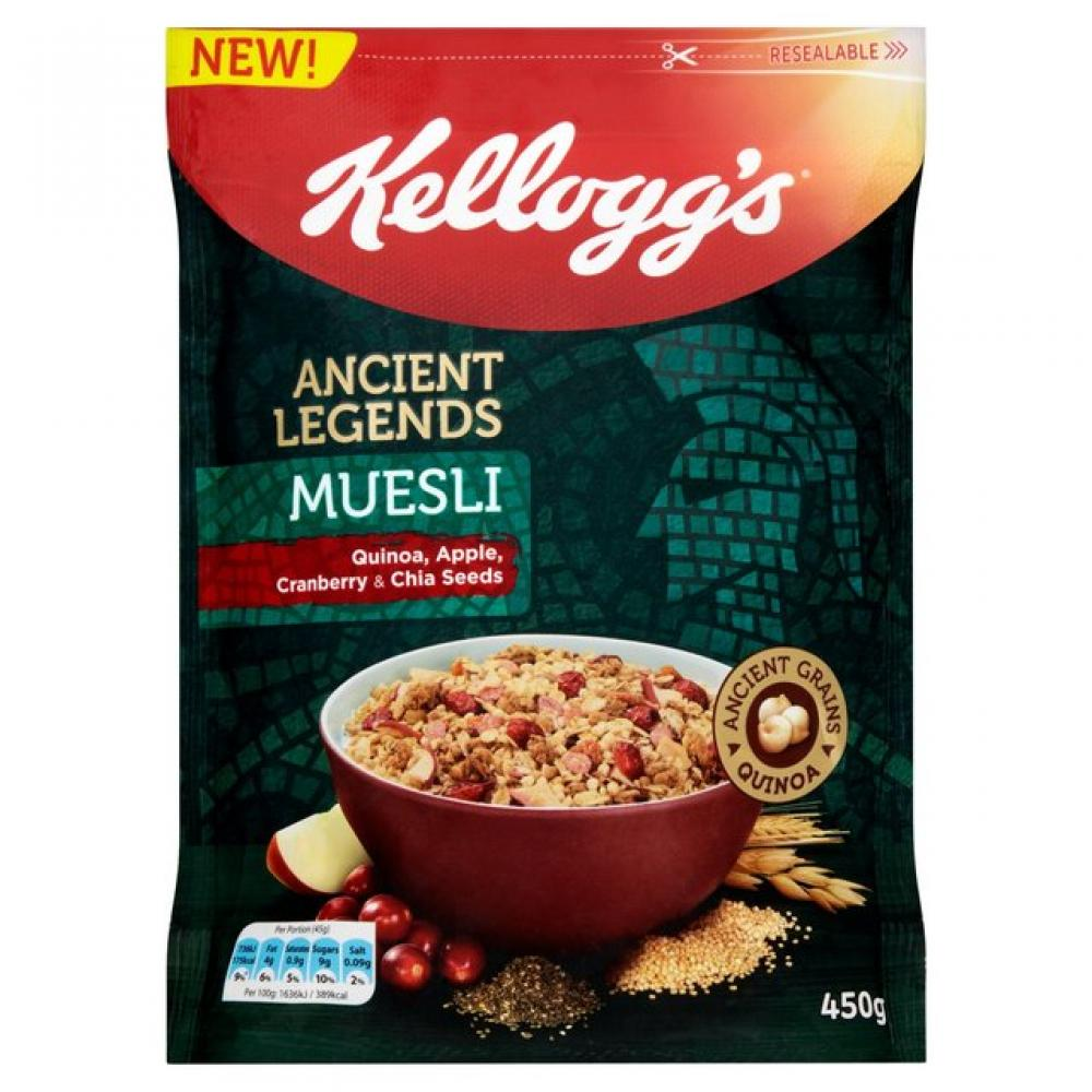 Kelloggs Ancient Legends Muesli Cranberry Apple and Chia Seeds 450g