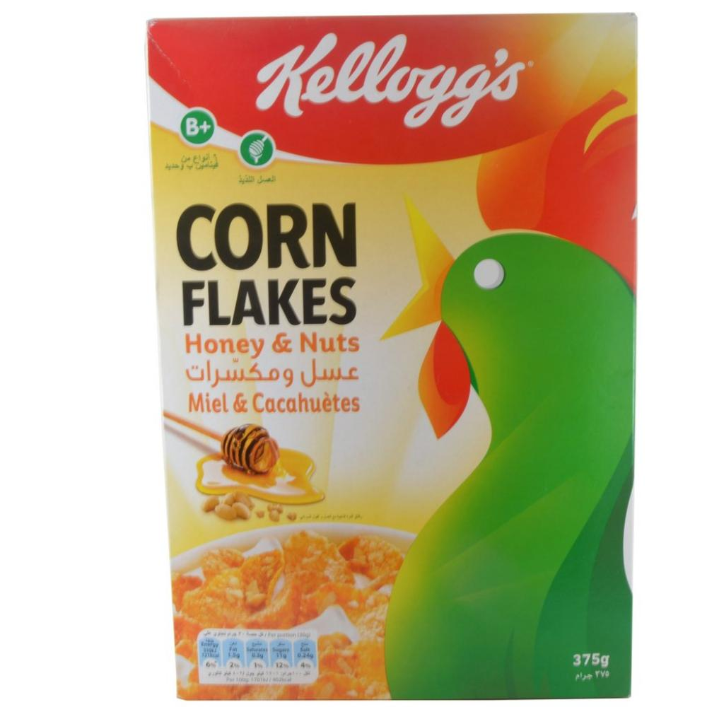Kelloggs Corn Flakes Honey and Nuts 375g