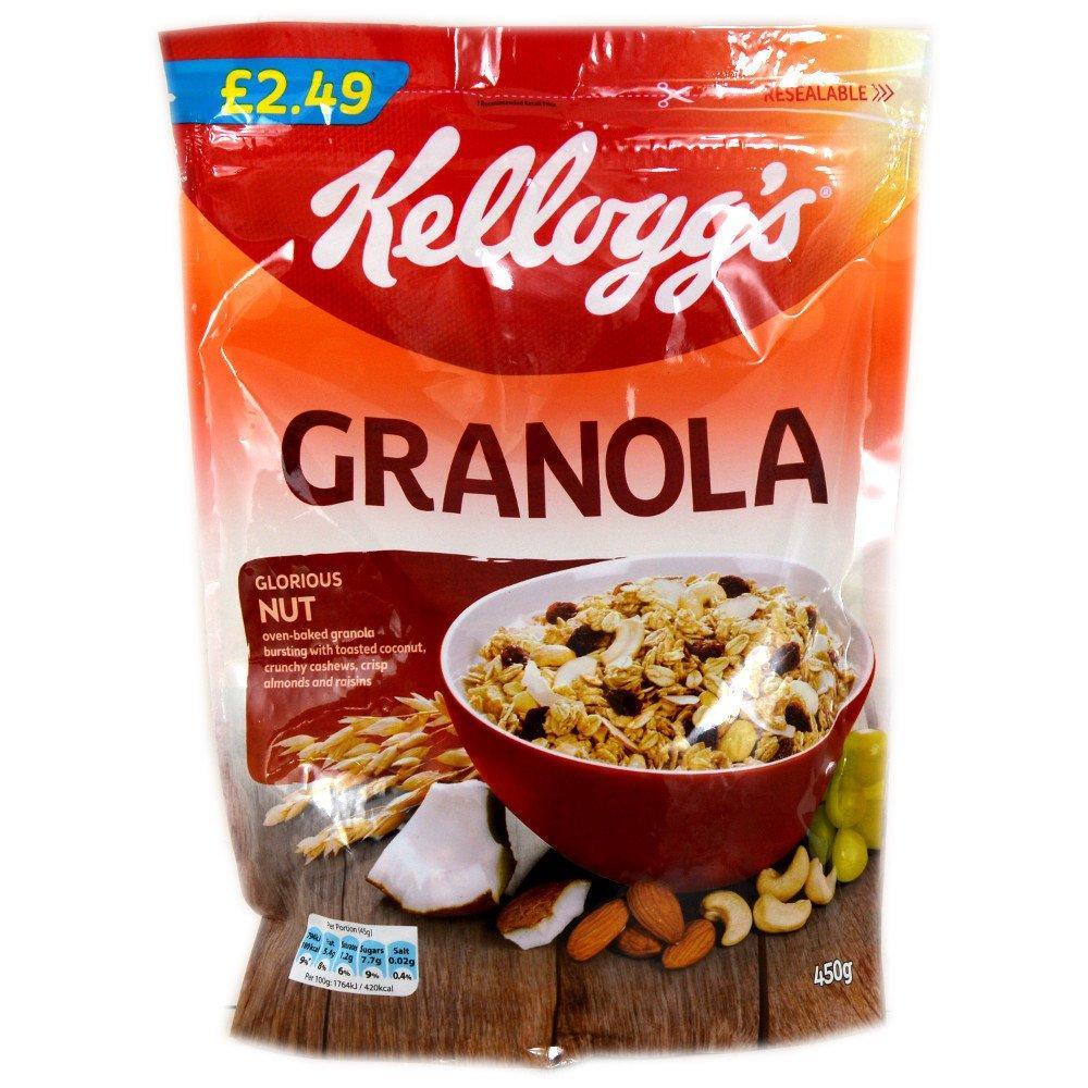 Kelloggs Granola Glorious Nut 450g