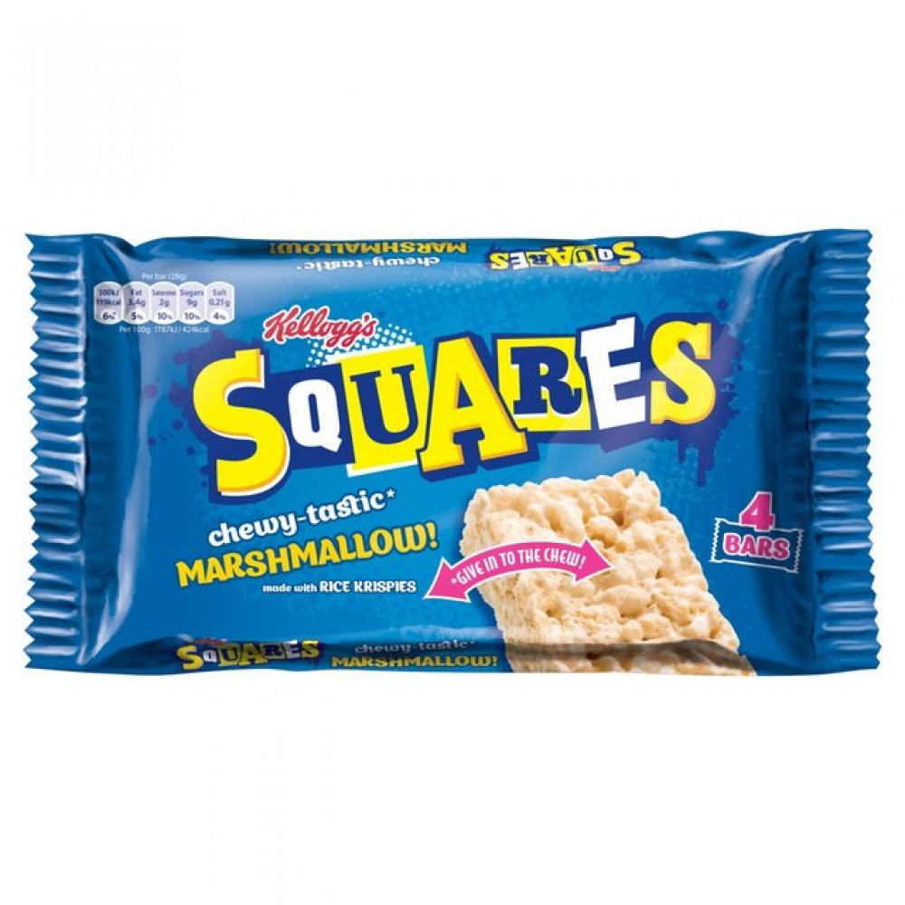 Kelloggs Squares Marshmallow Bars 4 x 28g
