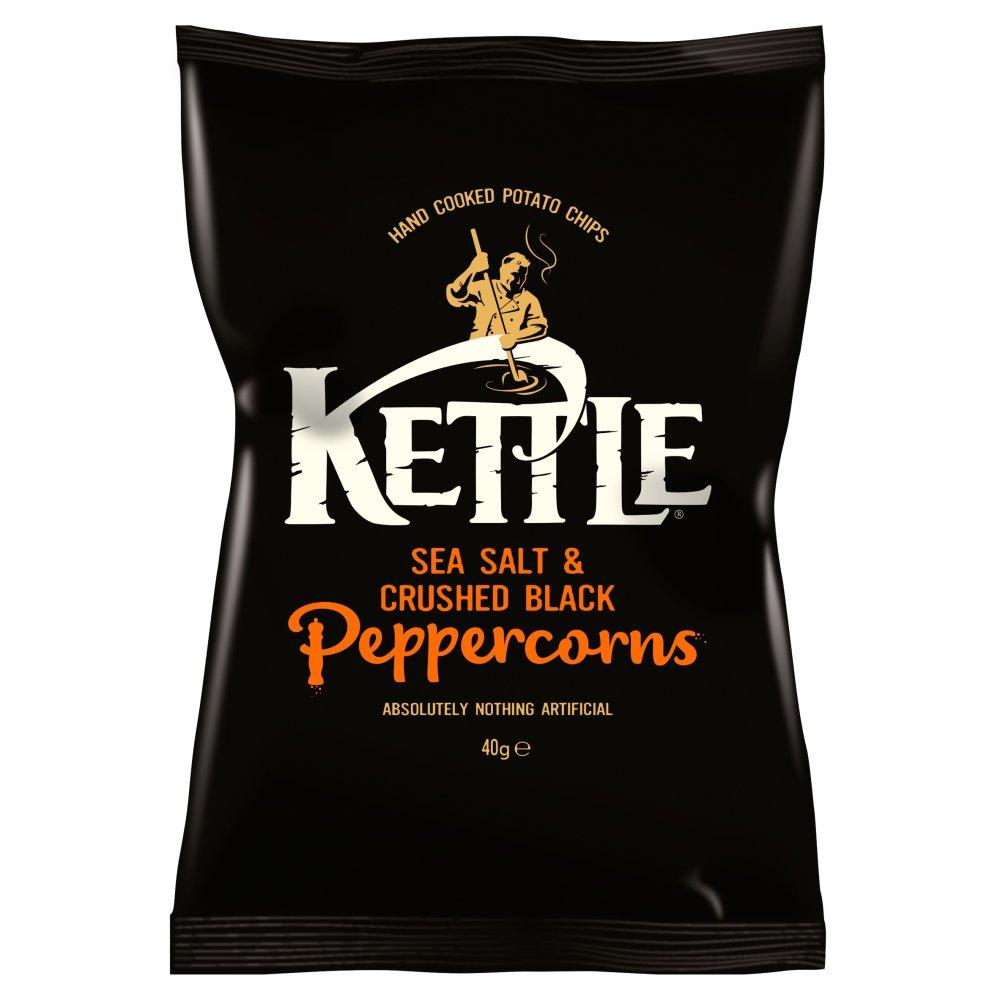 Kettle Chips Sea Salt with Crushed Black Peppercorns 40g