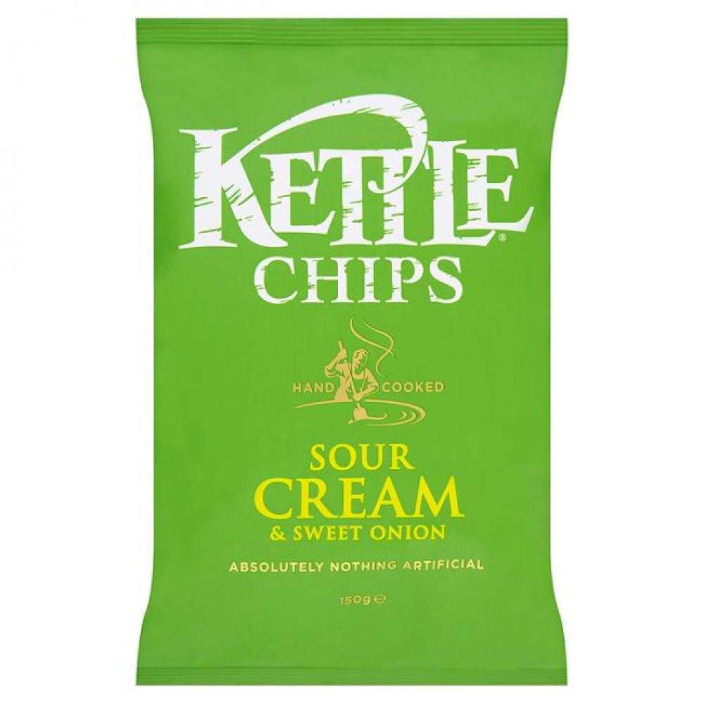 Kettle Chips Sour Cream and Sweet Onion Flavour 150g