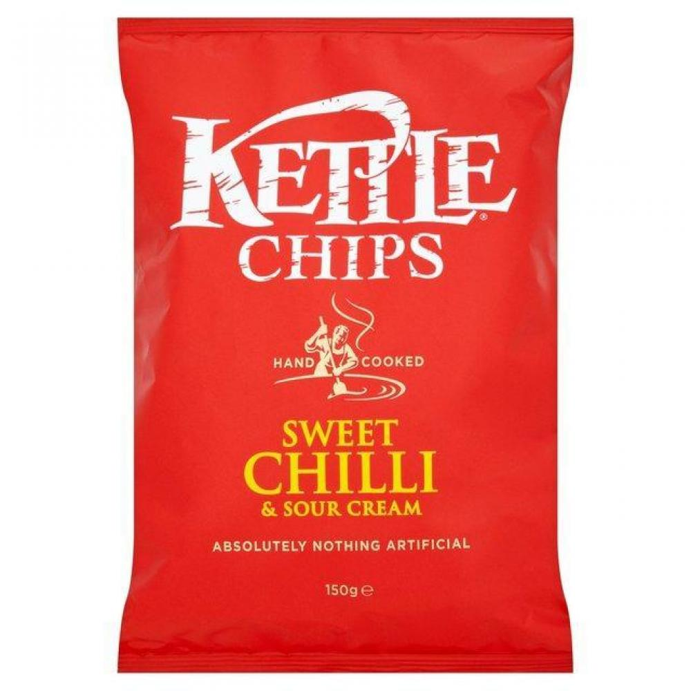 Kettle Chips Sweet Chilli and Sour Cream Flavour Crisps 150g