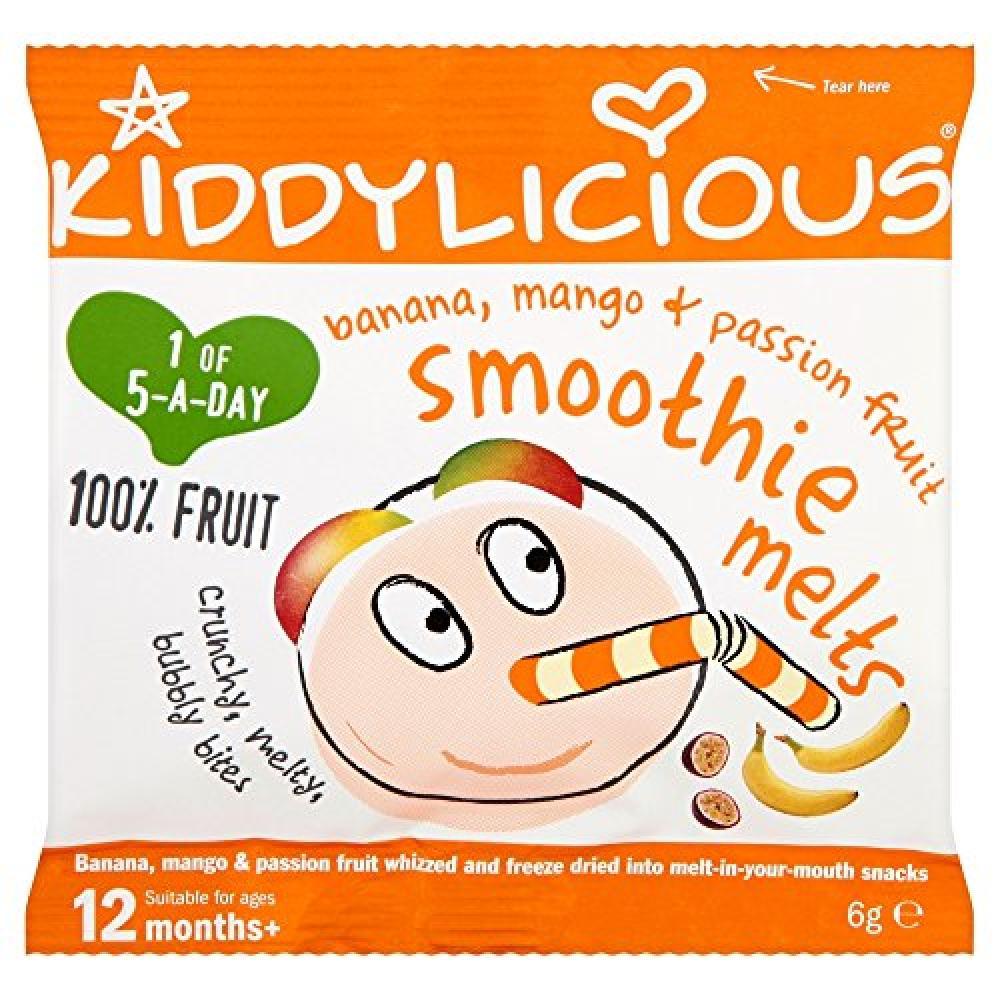 Kiddylicious Mango Banana and Passion Fruit Smoothie Melts 6g