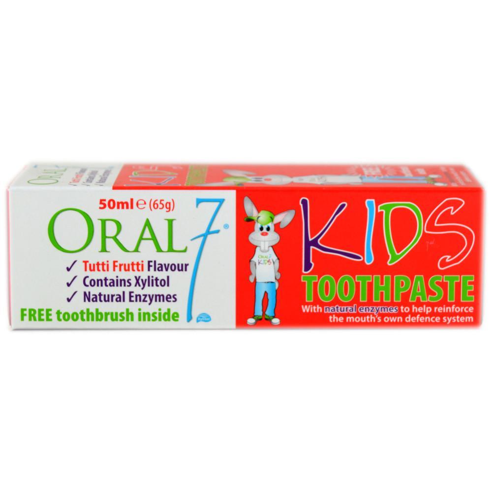 Oral 7 Kids Tootpaste - Tutti Frutti Flavour 50ml