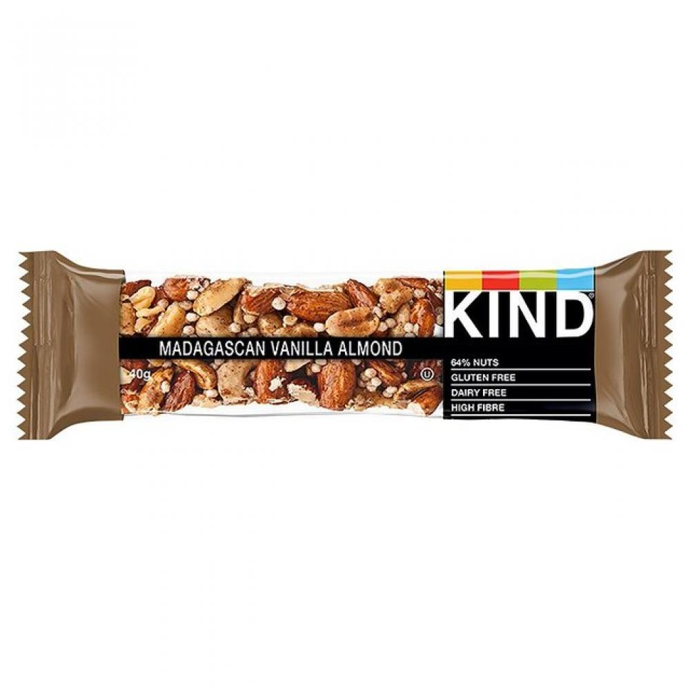 Kind Madagascar Vanilla Almond Bar 40g