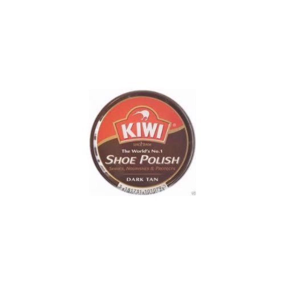 Kiwi Leather Polish Dark Tan 50ml