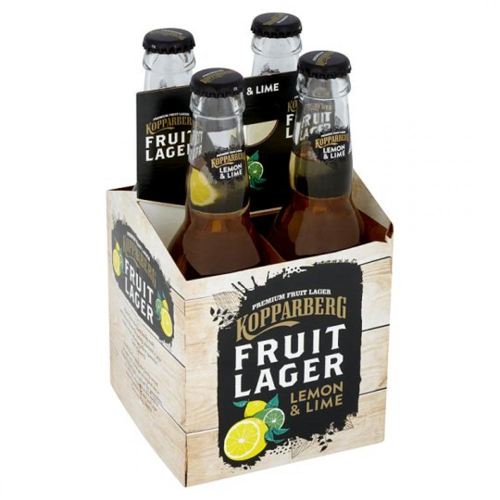 Kopparberg Fruit Lager Lemon And Lime 300ml x 4
