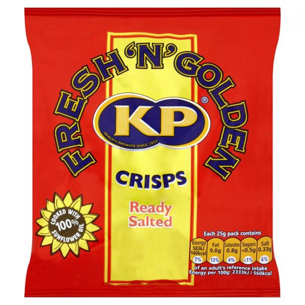 Kp Ready Salted Crisps 25g