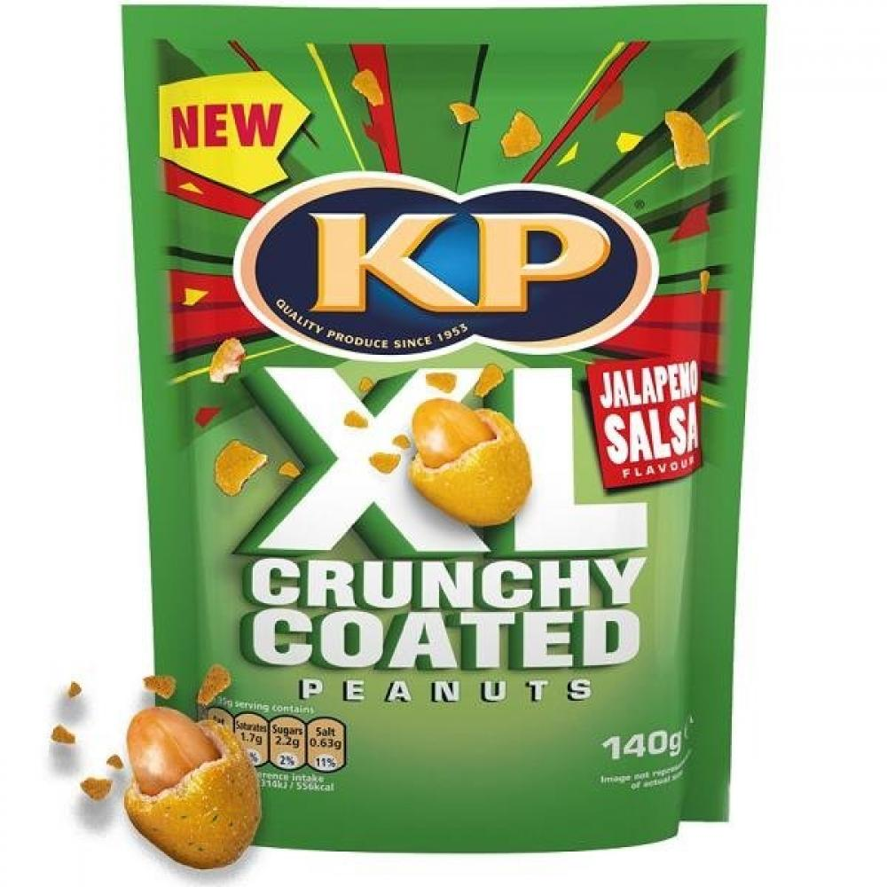 Kp XL Crunchy Coated Peanuts Jalapeno Salsa Flavour 140g