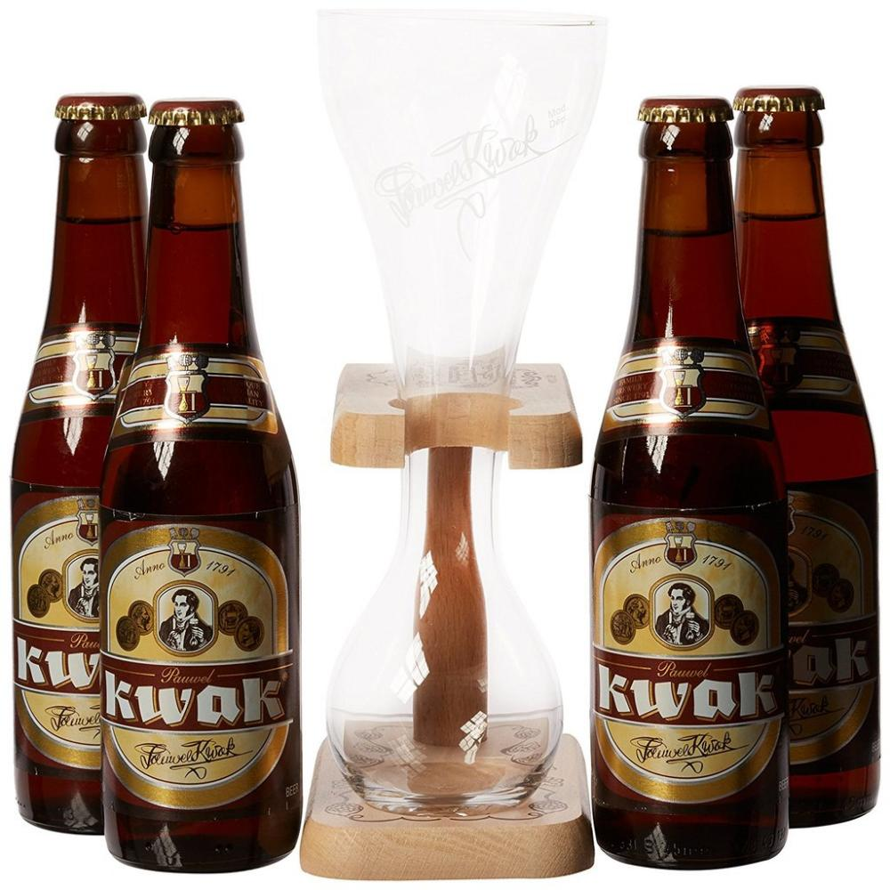 Kwak Gift Pack 4 x 330ml Plus Glass and Stand