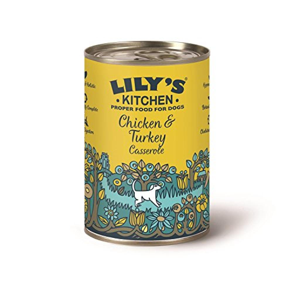 Lilys Kitchen Chicken and Turkey Casserole Complete Wet Food for Dogs 400g
