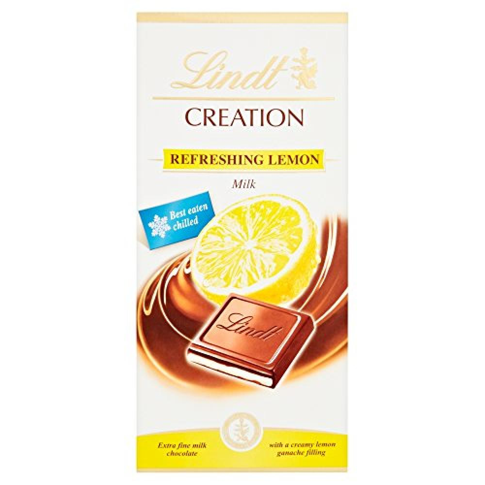 Lindt Creation Refreshing Lemon Milk Chocolate Bar 150 g