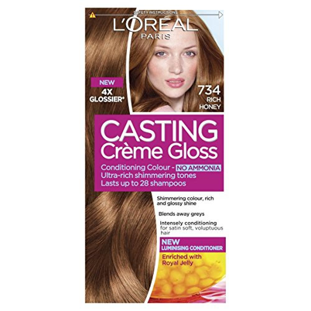LOreal Casting Creme Gloss 734 Rich Honey Blonde Semi Permanent Hair Dye