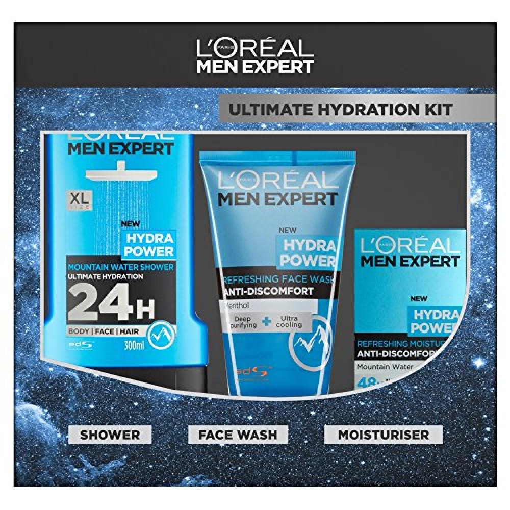 LAST CHANCE  LOreal Men Expert Ultimate Hydration Kit 3-Piece Gift Set